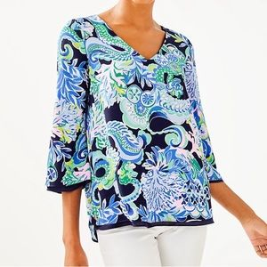 NWT Lilly Pulitzer Florin Reversible Top